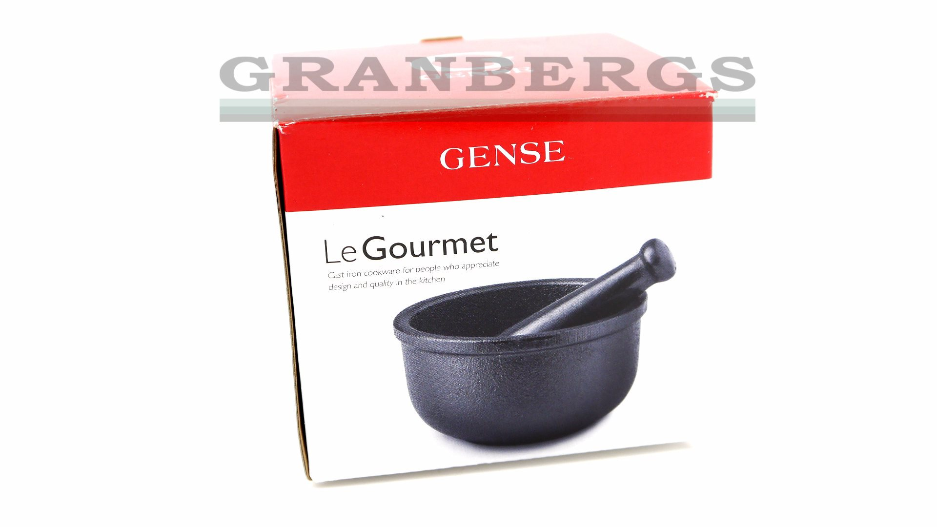 granbergs gense le gourmet spice mortar pestle cast iron small