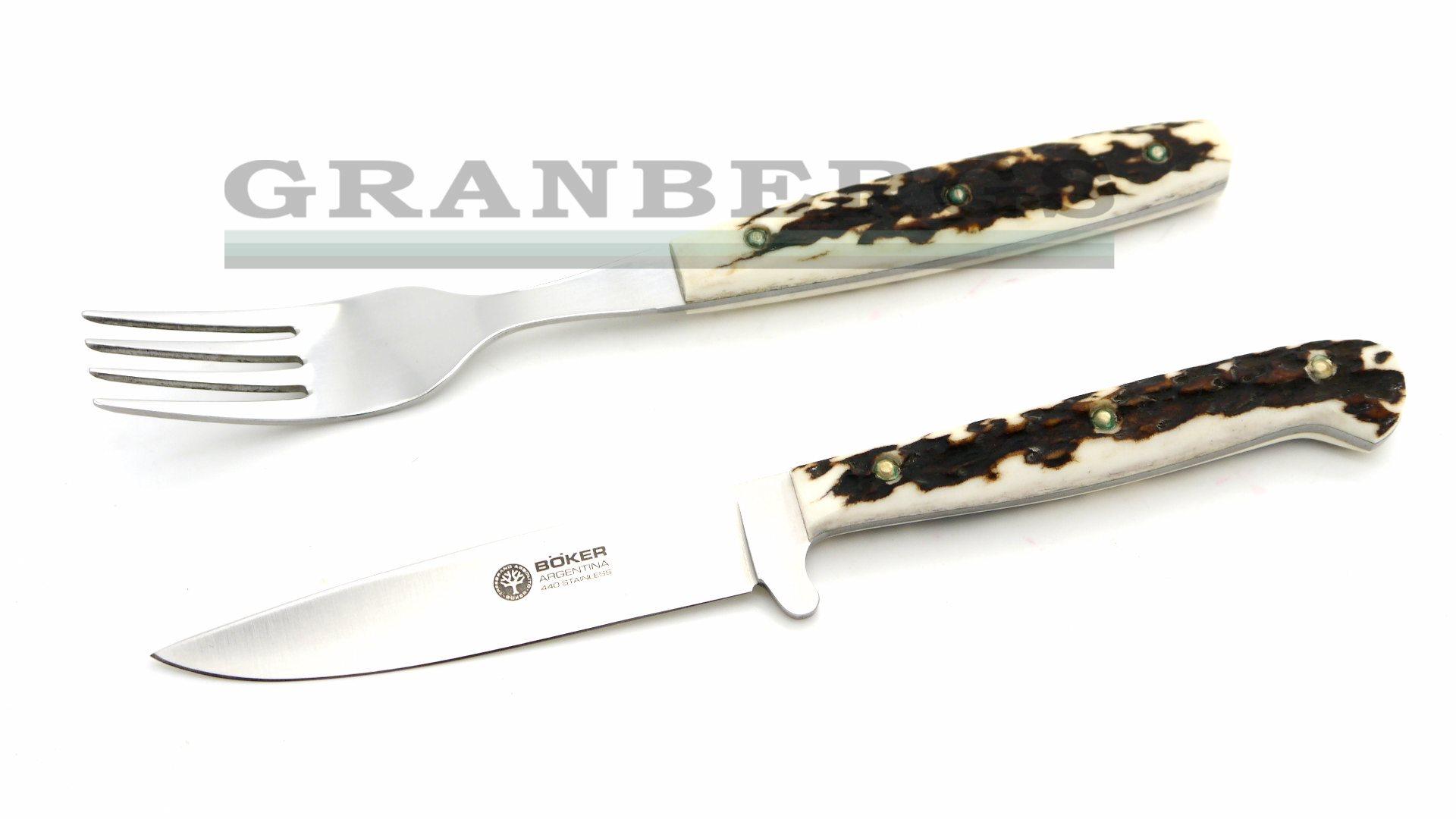 granbergs boker 03ba501hh arbolito stamigo stag knife u0026 fork set