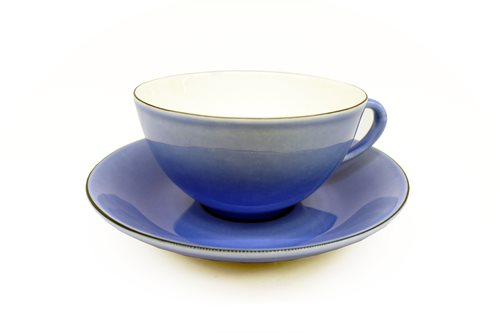 Gustavsberg Natur Tea Cup With Saucer Blueberry 1508