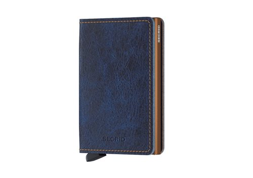 Secrid Slimwallet RFID/NFC Protected Leather Wallet - Indigo 5