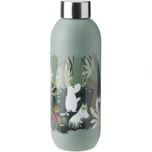 Stelton Keep Cool Bottle 0.75L Moomin-Dusty Green