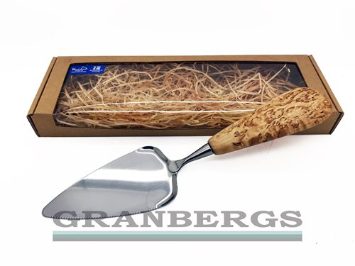 Wood Jewel Cake Knife and Server in Gift Box