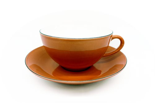 Gustavsberg Natur Tea Cup With Saucer Rosehip 1308