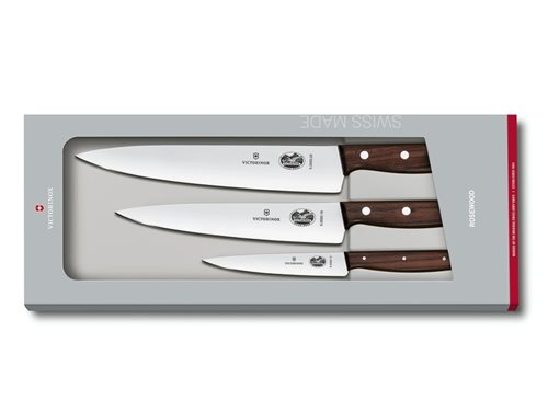 Victorinox 3 pc Carving set Rosewood 5.1050.3