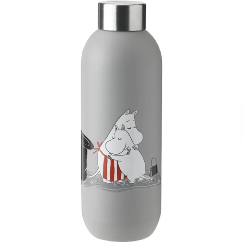 Stelton Keep Cool Bottle 0.75L Moomin Light Grey