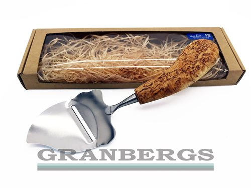 Wood Jewel Cheese Slicer - Flame, In Gift Box