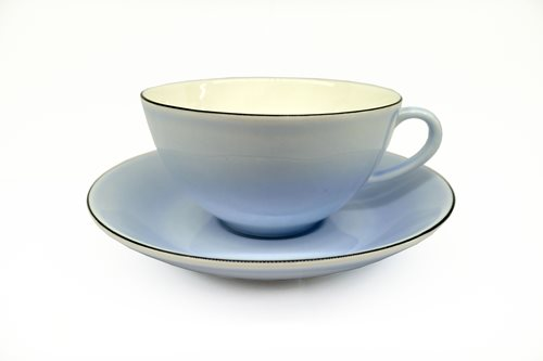 Gustavsberg Natur Tea Cup With Saucer Lavender 1408