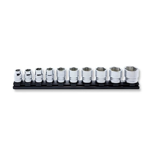 "10 Piece Metric 1/2"" Square Drive Z-Series Magnetic Rail Socket Set"
