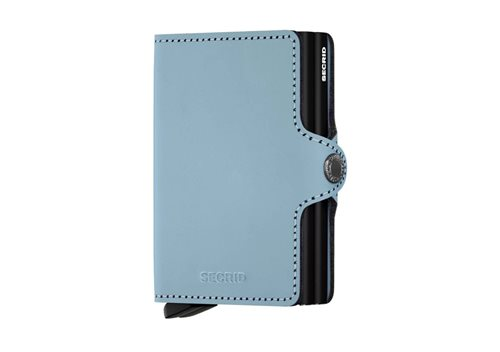 Secrid Twinwallet RFID/NFC Protected Leather Wallet - Matte Blue