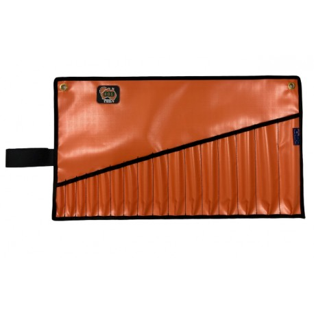AOS PVC Spanner Roll, Med 16 Pockets, Orange AOSROLLSP02OR