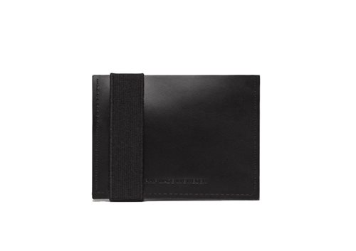 PAP Futo Card Holder Leather Wallet Black