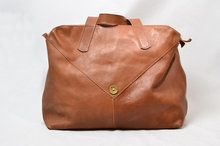"P.A.P Swedish ""Glenn"" Tan Leather Sports Bag"