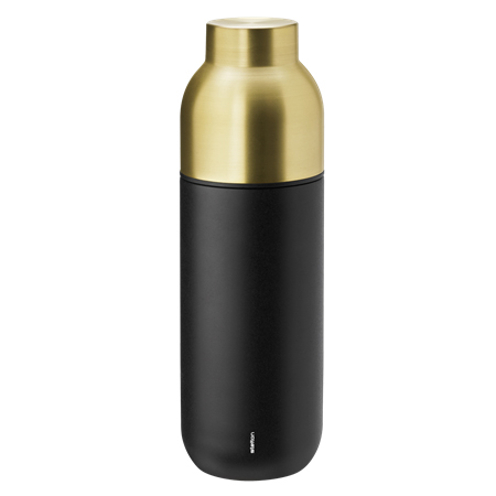Stelton Collar Thermo Bottle, 0.75 L, Black