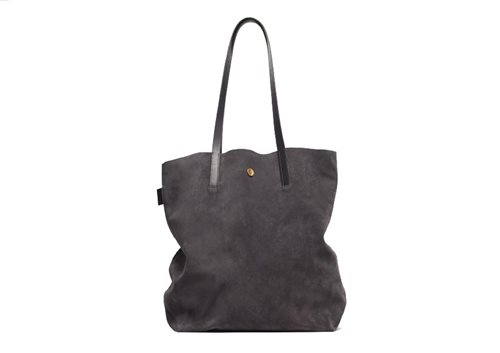 PAP Lisa Tote Bag Suede Grey 50116